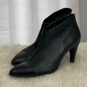 Ecco black leather boots shoes size 10